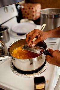 Freshly grated nutmeg is a very important ingredient.