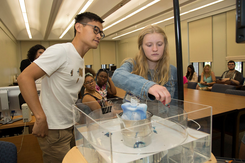 Students participate in last summer's Eureka! program at UAlbany.