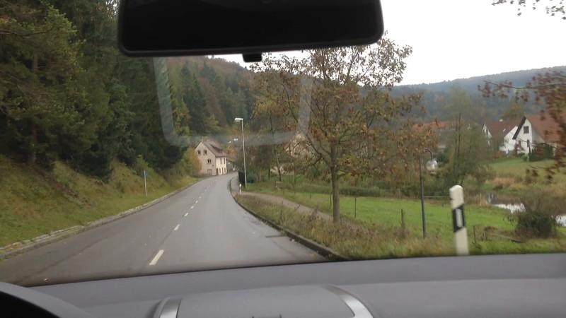 Driving from Stuttgart Uhlback to Castle Burg Derek and Cathedral Zwiefalten.