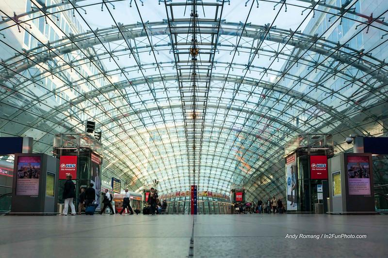 Frankfurt Airport catching train to Stuttgart