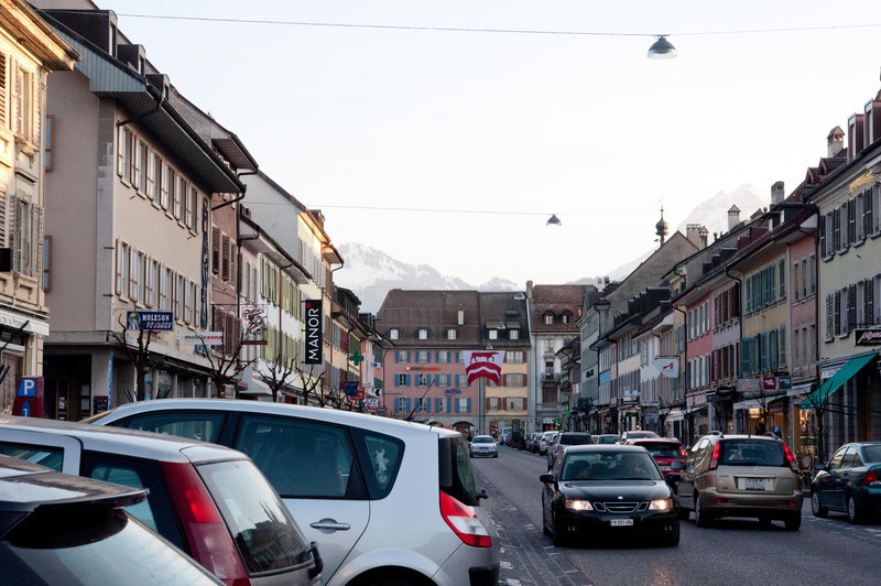 Bulle, Switzerland - very, very cute town.