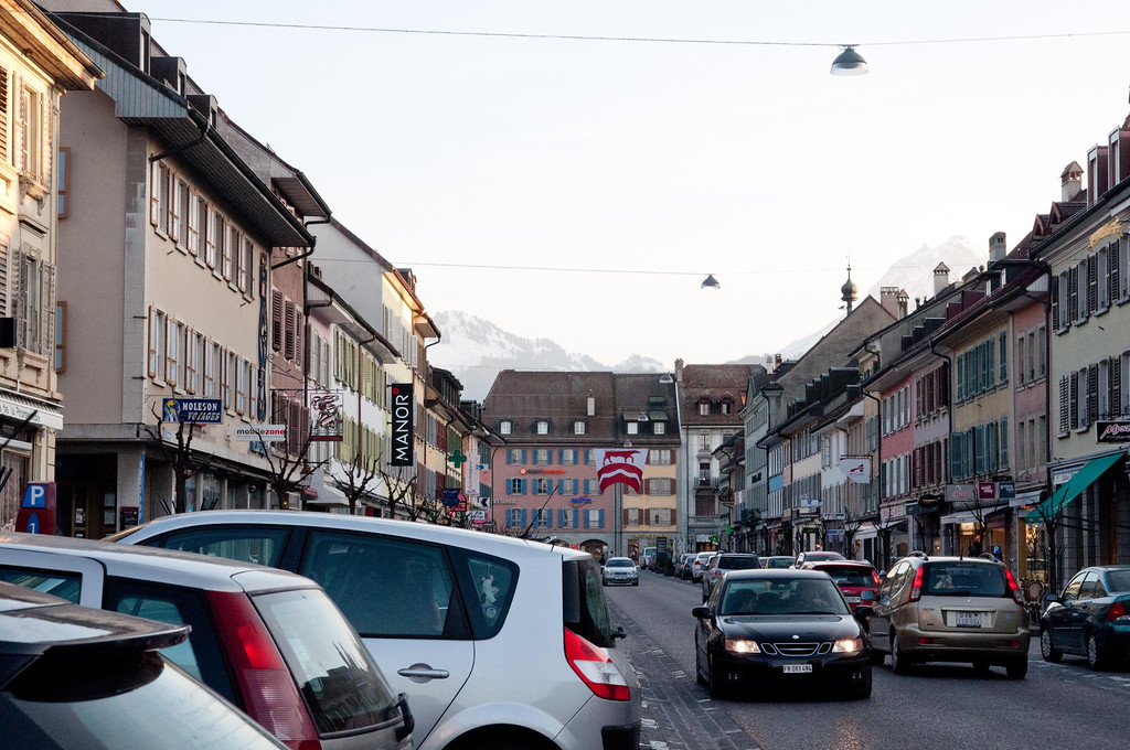 Bulle, Switzerland - very, very cute town.
