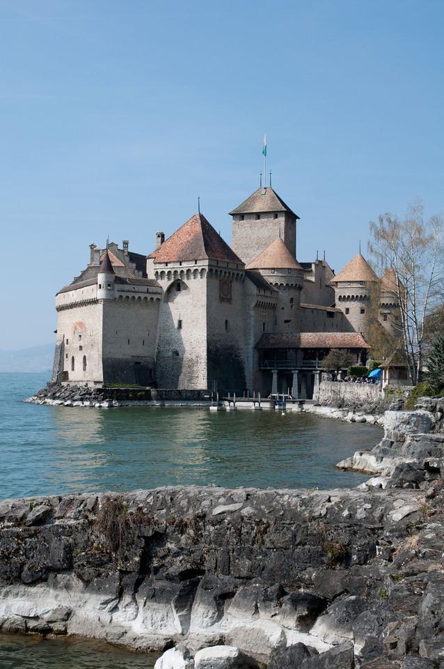Chillon Castle, on Lake Geneva.