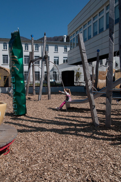 The playground at Cailler.
