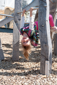 Charlotte being Charlotte at Cailler playground.