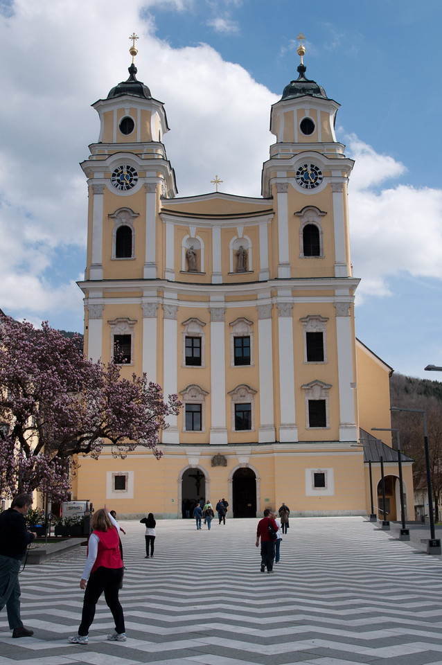 The wedding church in Mondsee Austria where Maria and the Captain got married in the Sound of Music.  In actuality they were wed at Nonberg Abbey.