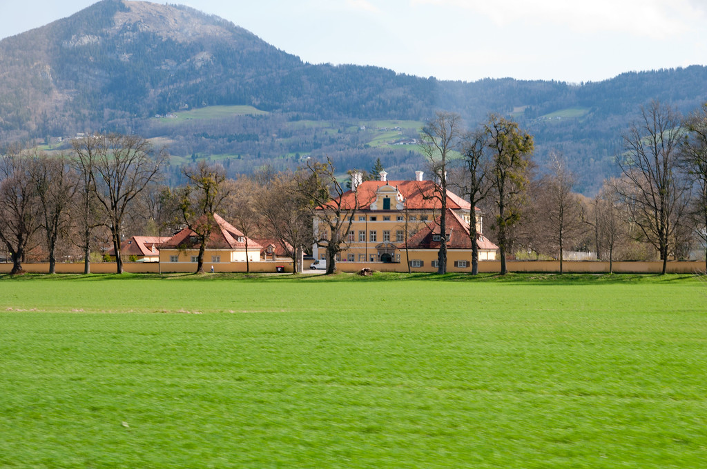 The exterior they used for the Von Trapp family home in the movie.