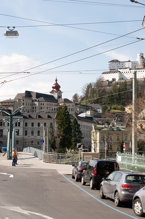 Nonberg Abbey and the Salzburg Castle.
