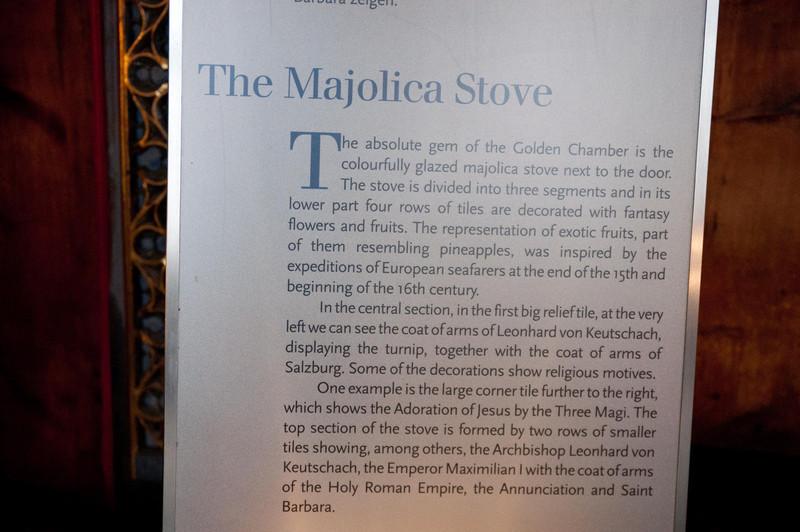 A description of the stove.