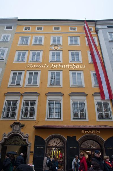 Mozart's birth house.  My mecca :)