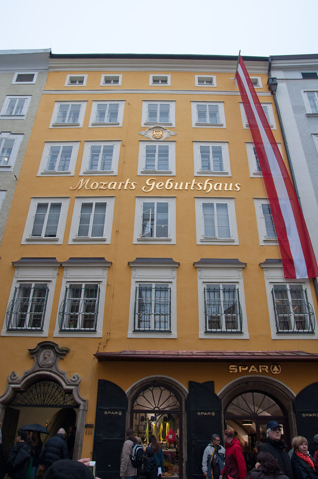 Mozart's birth house.  My mecca :)