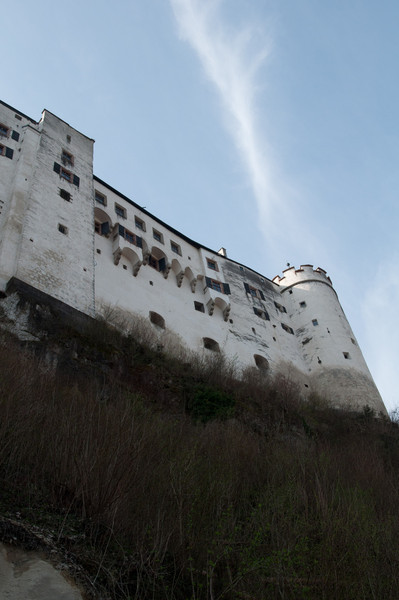 A view of Salzburg Castle from about halfway up the path.