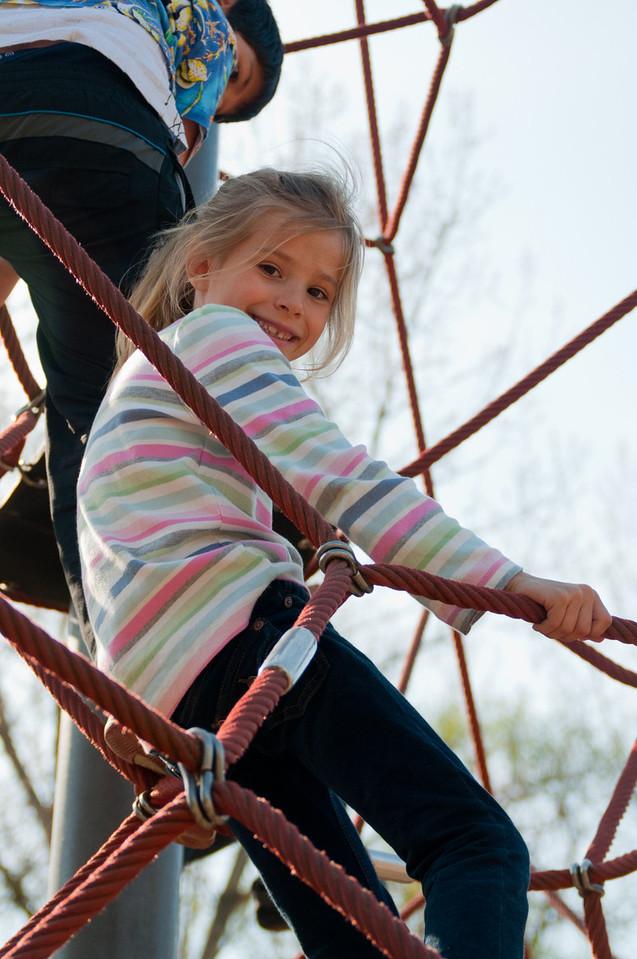 Elisabeth on the playground.