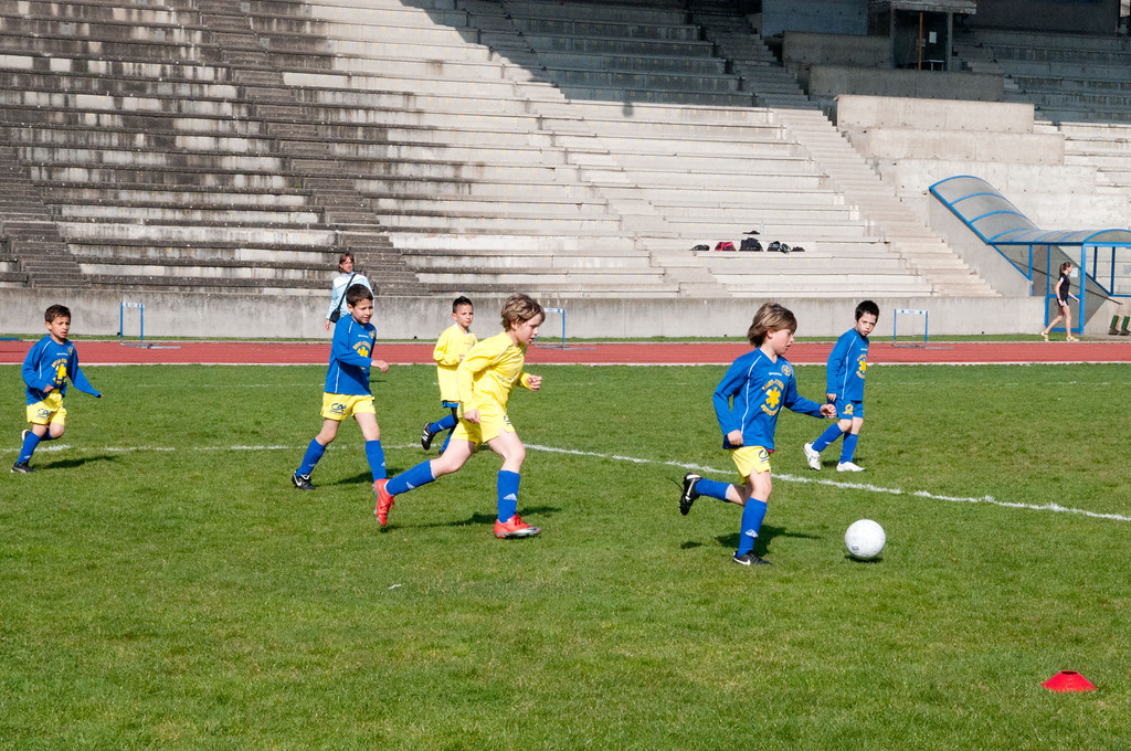 Soccer match in St. Etienne
