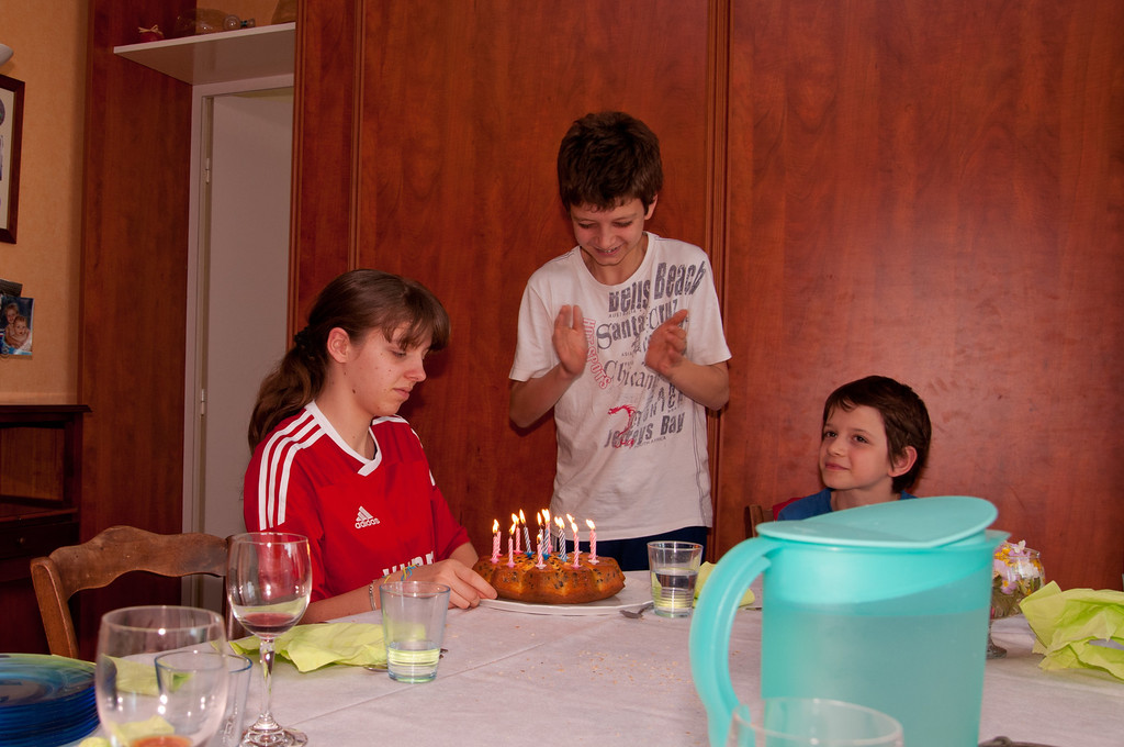 Clemence celebrated her 15th birthday while we were there.