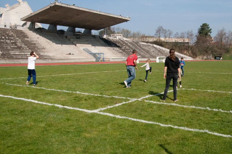 Elisabeth finishes her kick, St. Etienne.