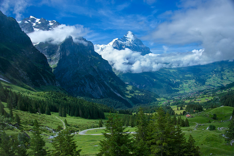 A beautiful valley at the base of the Eiger.