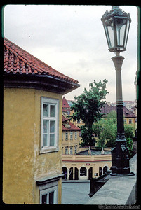 A View from the Charles Bridge in Prague.