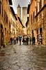 Rainy day in San Gimgnano, Italy.