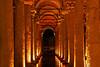 Underground Roman water cistern in Istanbul Turkey