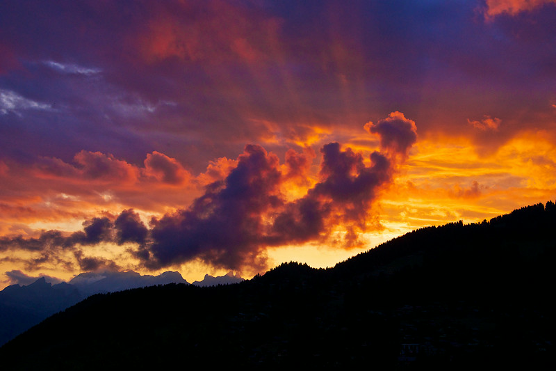 Magnificent Swiss sunset.