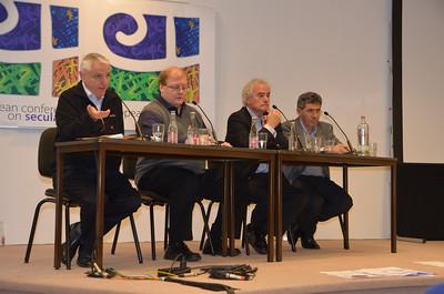 Fr. Lorenzo Prezzi introduces Wednesday's speakers