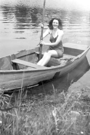 Ev & Lou swim 1946