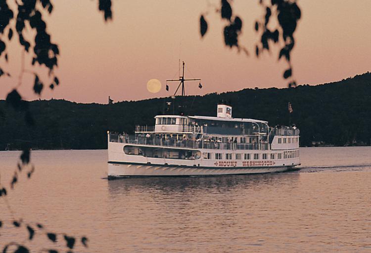 Sunset dinner cruise on the M/S Mount Washington on Lake Winnipesaukee, NH