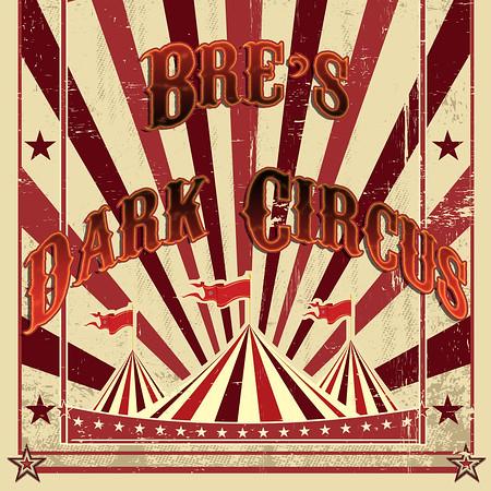 retro cream circus letter