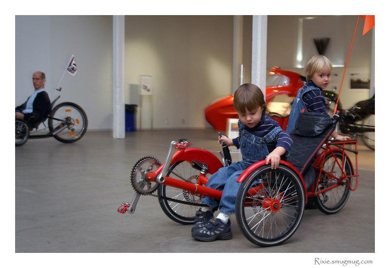 Barnen inte minst älskade alla konstiga cyklar
