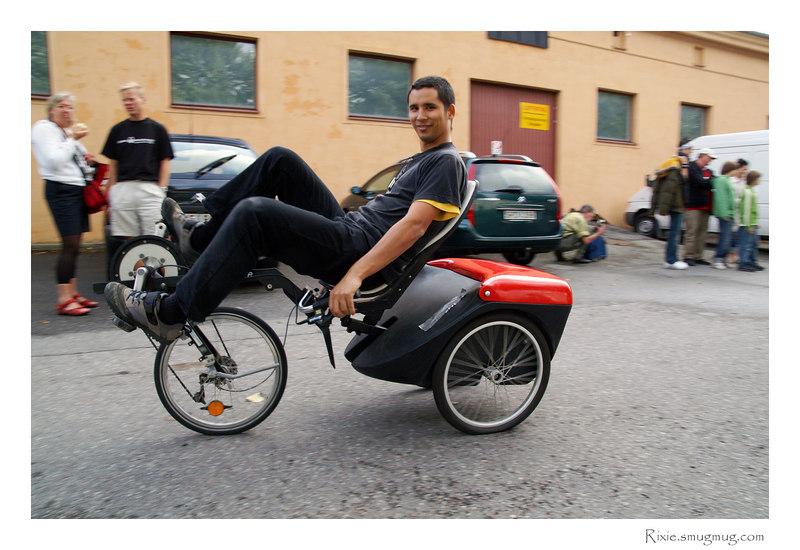 Jag på en Flevo Trike. Foto tagen av Lars Viebke