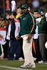 27 December 2008:  Miami Hurricanes head coach Randy Shannon during the second half of the California Golden Bears' 24-17 victory over the Hurricanes in 2008 Emerald Bowl at AT&T Park in San Francisco, California.