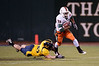 27 December 2008:  Miami Hurricanes running back Lee Chambers (32) breaks free during the second half of the California Golden Bears' 24-17 victory over the Hurricanes in 2008 Emerald Bowl at AT&T Park in San Francisco, California.