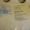 Signatures on B-25 bomb door