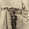Union soldier standing guard