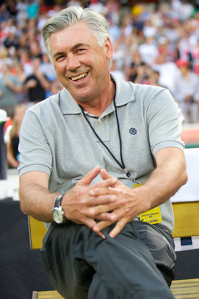 28 July 2012:  Paris Saint-Germain Coach Carlo Ancelotti during DC United's  international friendly match against Paris Saint-Germain at RFK Stadium in Washington, DC.