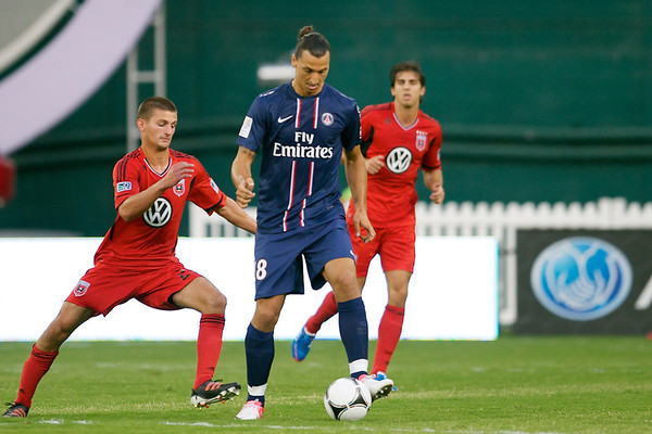 28 July 2012:  \ during DC United's  international friendly match against Paris Saint-Germain at RFK Stadium in Washington, DC.