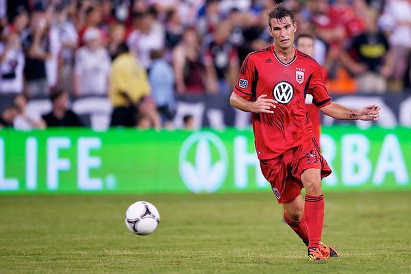 28 July 2012:  DC United Defender Emiliano Dudar (19) during DC United's international friendly match against Paris Saint-Germain at RFK Stadium in Washington, DC.