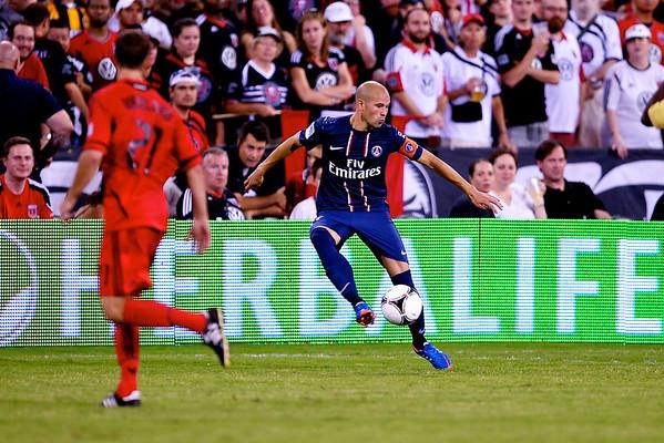 28 July 2012:  Paris Saint-Germain Defender Christophe Jallet (26) during DC United's international friendly match against Paris Saint-Germain at RFK Stadium in Washington, DC.