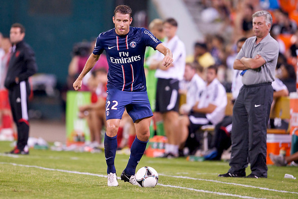28 July 2012:  Paris Saint-Germain Defender Sylvain Armand (22) during DC United's international friendly match against Paris Saint-Germain at RFK Stadium in Washington, DC.