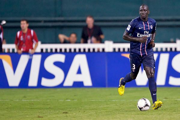 28 July 2012:  Paris Saint-Germain Defender Mamadou Sakho (3) during DC United's international friendly match against Paris Saint-Germain at RFK Stadium in Washington, DC.