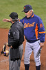 16 June 2008:  Detroit manager Jim Leyland talks things over with plate umpire Tom Hallion during the San Francisco Giants' 8-6 victory over the Detroit Tigers at AT&T Park in San Francisco, CA.