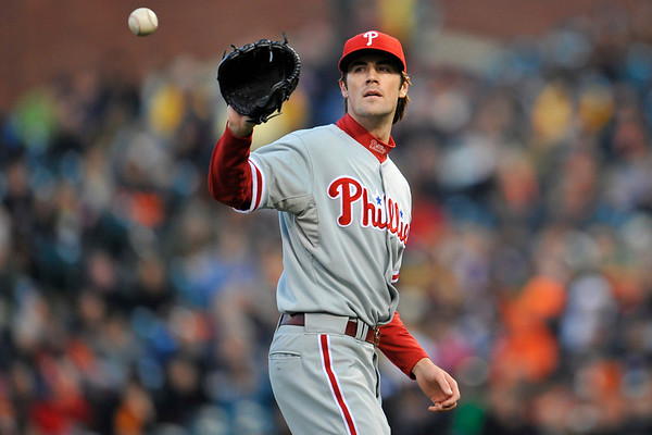 09 May 2008:  Cole Hamels (35) during the Philadelphia Phillies' 7-4 victory over the San Francisco Giants at AT&T Park in San Francisco, CA.
