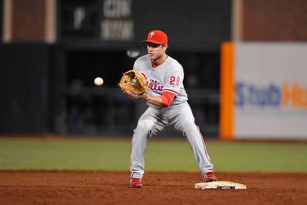 09 May 2008:  Chase Utley (26) during the Philadelphia Phillies' 7-4 victory over the San Francisco Giants at AT&T Park in San Francisco, CA.