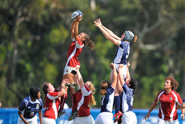 03 May 2008:  Kelsey Moss during Stanford's 15-10 victory over Penn State to win the Division I Women's Rugby National Championship match at Stueber Rugby Stadium in Stanford, CA.