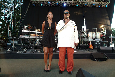 Stevie Wonder with his daughter at the Edgefield in Oregon.