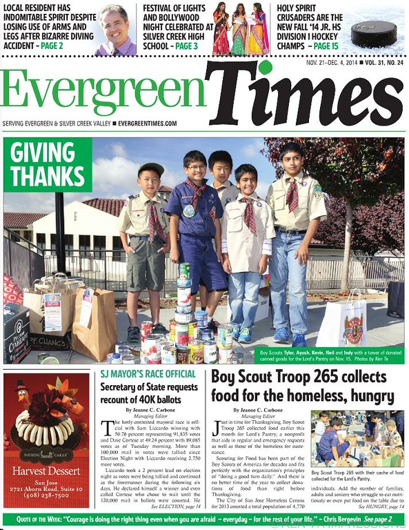Evergreen Troup 265 - Scouting for Food