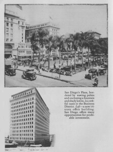 The US Grant Hotel and the old Horton Plaza - long, long before the mall.