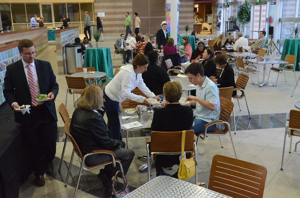 . After the award ceremony, attendees enjoyed a strolling dinner in the Oakland Schools atrium.