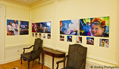 "Reception of exhibtion "" Colors of Ukraine"" at Ukrainian Embassy in Washington"